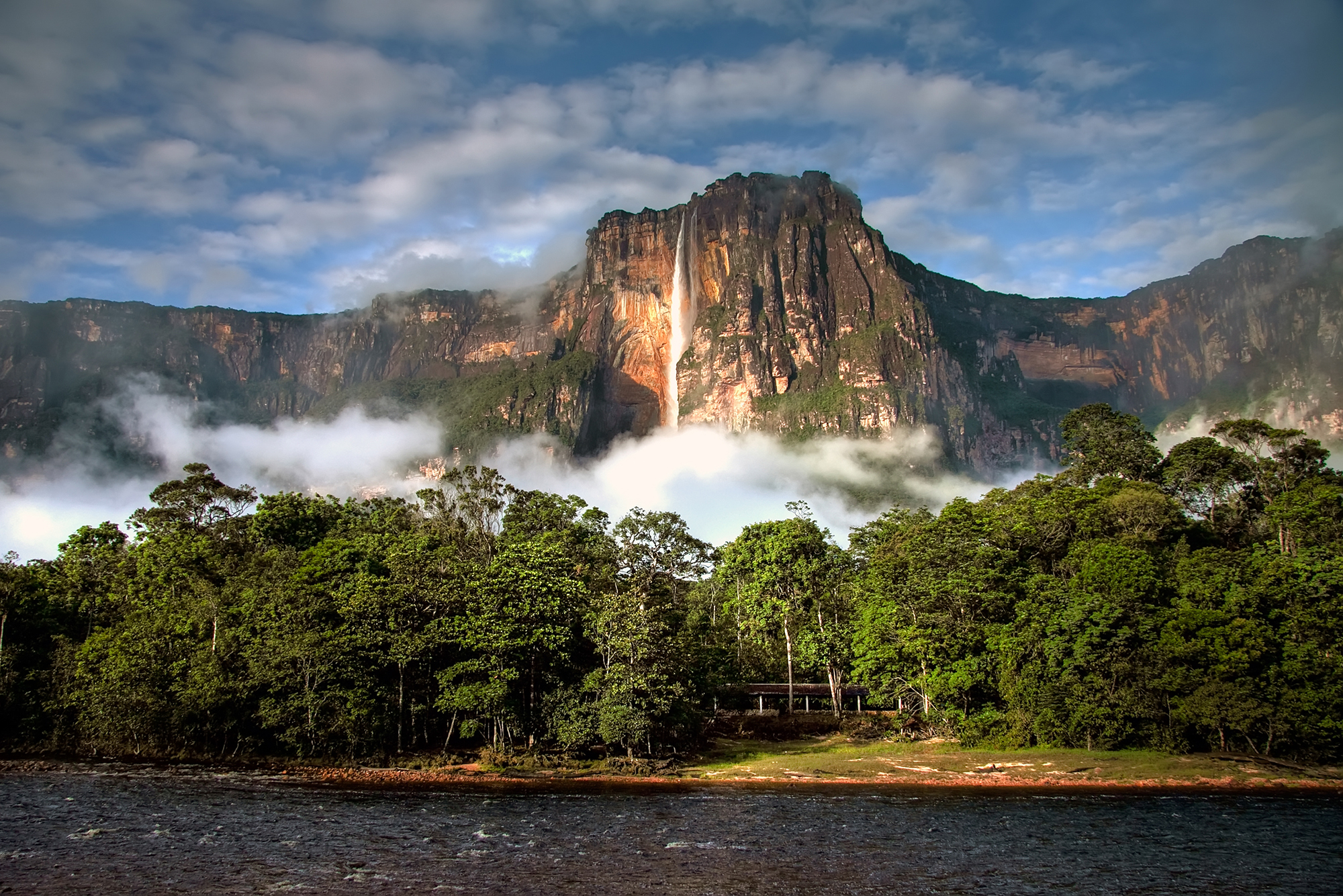 Angel Falls in the morning light