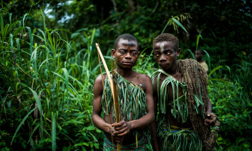 DEMOCRATIC REPUBLIC OF THE CONGO. Ituri Rainforest. December 2015. The Mbuti (Bambuti) Pygmies of the Ituri Rainforest.