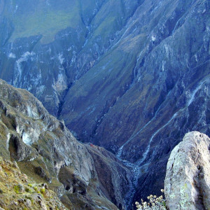 colca canyon as deep as this